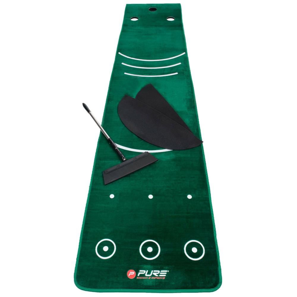 Pure2Improve Dual Grain Golf Putting Mat 70cm x 335cm